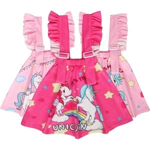 3-8 Years Baby Girls Strap-Adjustable PinkOverall Dress Winter Unicorn Toddler Girl Party Dress Dancing Birthday Unicorn Skirts