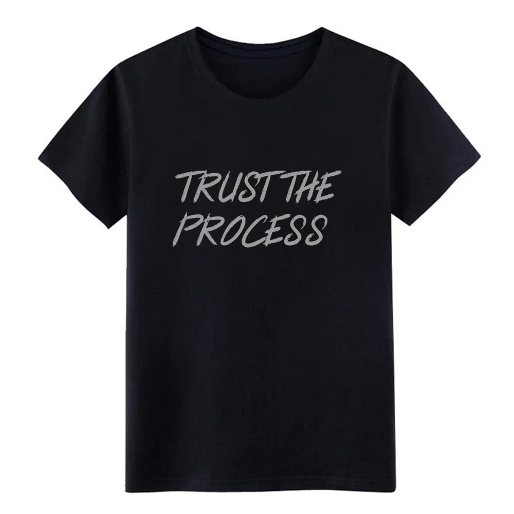 Мужская футболка с коротким рукавом trust the process workout, S-XXXL на весну и осень