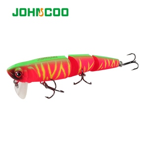 1PCS New Style Minnow Fishing Lure 98mm/11.5g 3 segment Lifelike Topwater Wobbler For Sea Bass Pike