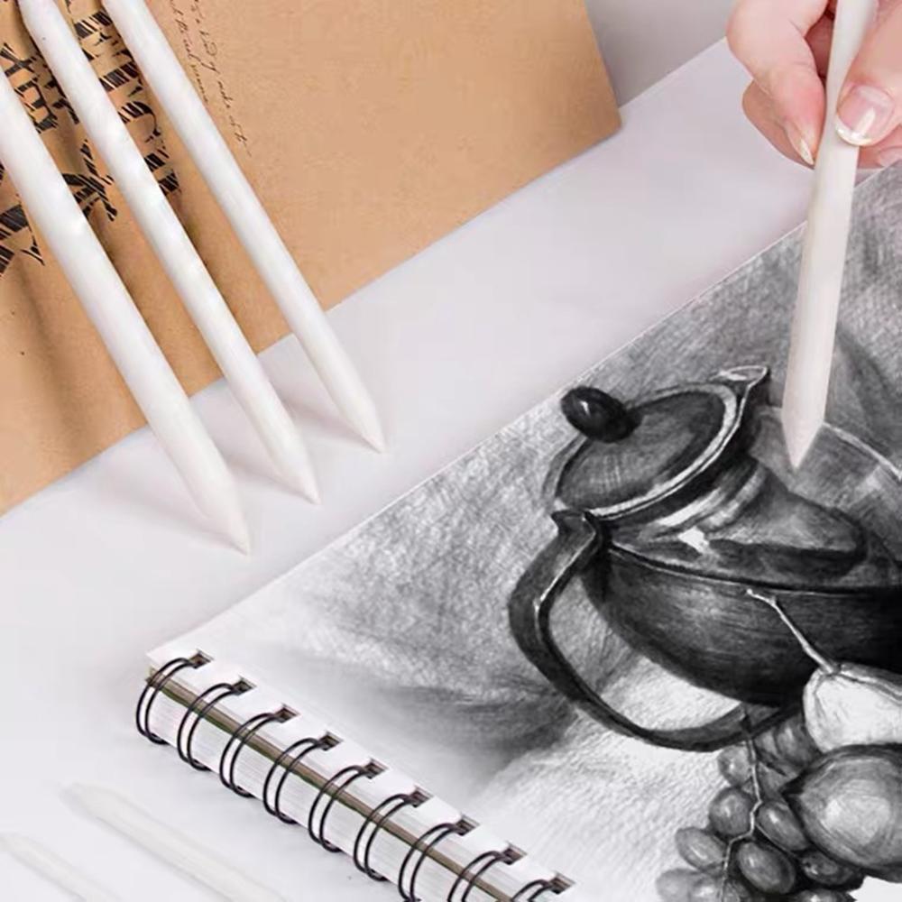 3 pçs s m l liquidificadores manchas tocos vara tortillon esboço arte desenho a carvão vegetal sketcking ferramenta xuan papel caneta borracha suprimentos