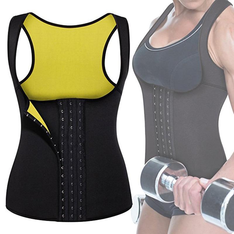 Mujeres neopreno cintura Trainer chaleco corsé camiseta sin mangas Sauna Body Shaper faja para perder peso S-6XL de talla grande