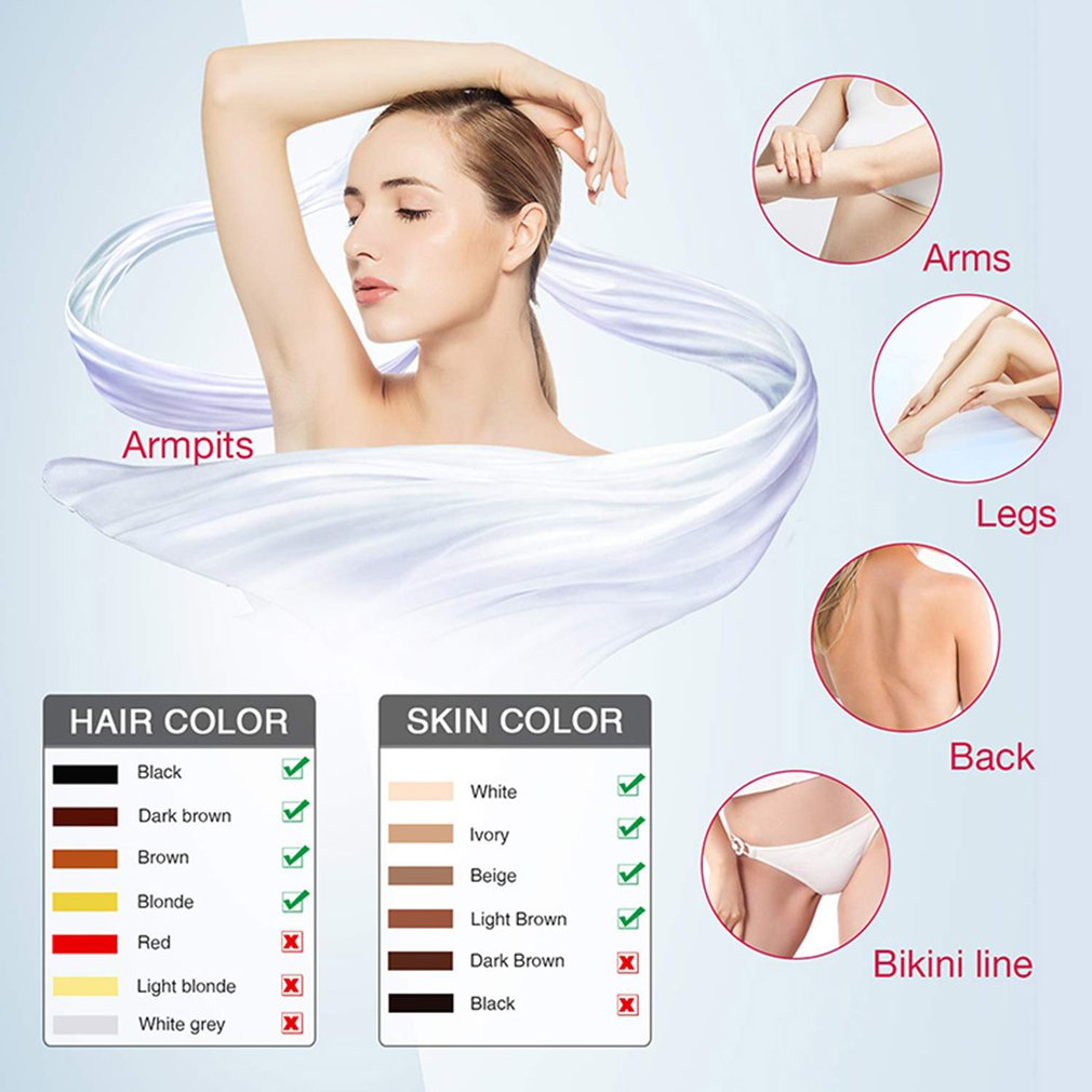 Freezing Point IPL Hair Removal Permanent Painless Flashes Painless Hair Reduction System For Face Arms enlarge