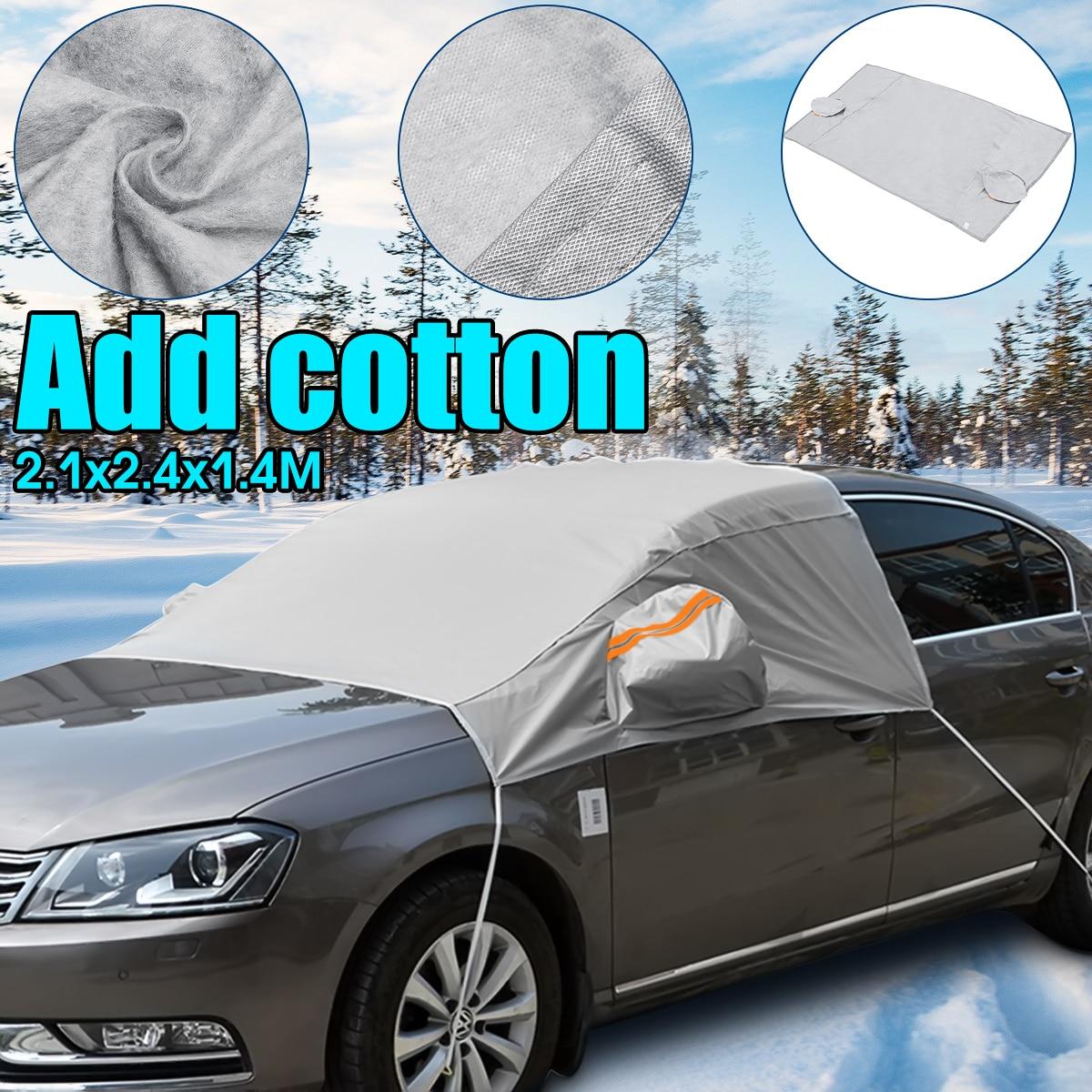 240cmx200cmx147cm Universal Car Front Window Windscreen Covers Sunshade Cover Snow UV Ice Shield for Windshield Winter Summer