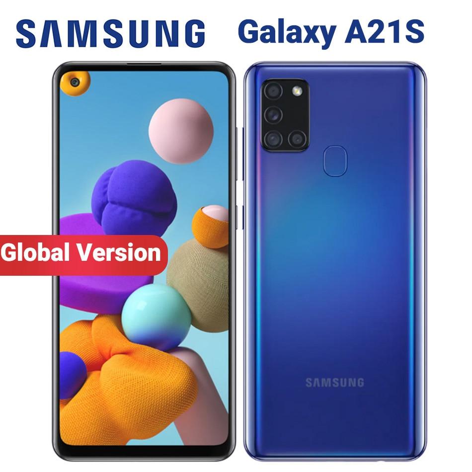 Перейти на Алиэкспресс и купить Смартфон Samsung Galaxy A21s A217F/DS, 4 + 64 ГБ, 5000 мА · ч, 6,5 дюйма, 4 камеры 48 МП, 2 SIM-карты, 4G, Android