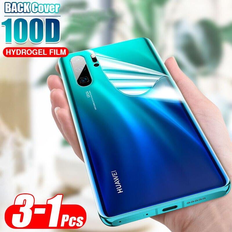 Cubierta trasera 100D película de hidrogel suave para Huawei P20 Lite P30 Pro Mate 20 30 Pro Protector de pantalla HD película protectora