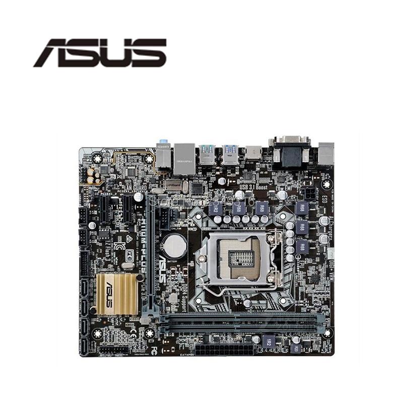 Usado original para asus H110M-PLUS ddr4 soquete lga 1151 h110 desktop usb2.0 usb3.0 placa-mãe