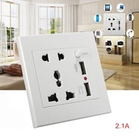 1PC Universal 2100mA 5V 2 USB Wall Socket AC 110-250V Household Wall Charger 2 Port USB Socket Mobile Phone Charger Wall Socket