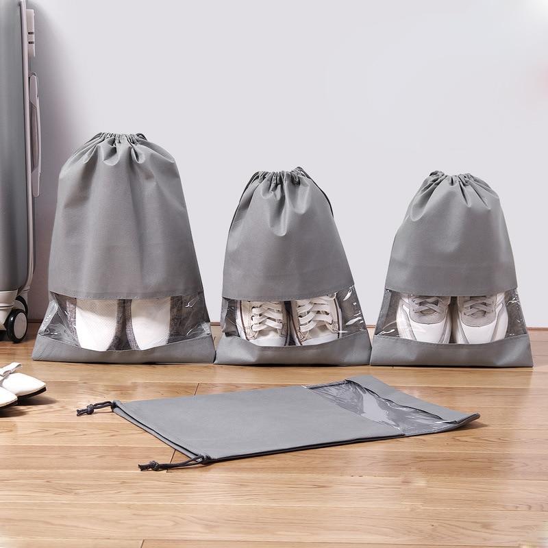 1 Pcs Shoe Bag Multi Purpose Travel Laundry Storage Pouch Zipper Organizer Portable Tote Drawstring Laundry Shoes Organizador