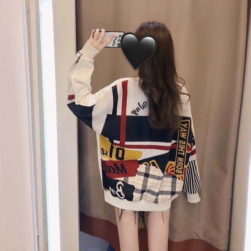 Round Neck Sweater Women s Fashion 2020 New Autumn Student Best Friend Loose Korean Plush Top