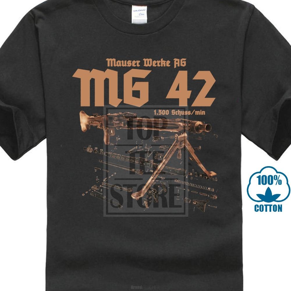 Mg 42 Premium T Shirt Mp 40 Mp44 Armee táctico nueva moda hombres camiseta impresión Camiseta cuello redondo corto cuello redondo Camiseta