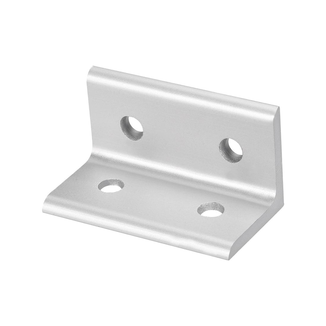 Soporte de esquina uxcell 3060 para perfil de extrusión de aluminio serie 3030 con ranura de 8mm, 4 Uds