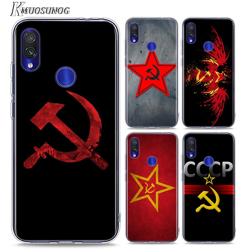 Funda blanda de TPU para Redmi 8 8A bandera Grunge de la Unión Soviética roja para Xiaomi Redmi Note 8 7 6 5 4X4 7A 6A 6 S2 5A Plus