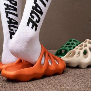 Female Indoor Outdoor Slippers Cut-out Soft EVA Summer Shoes Woman Men Fashion Platform Slides Slip-on Ladies Home Floor Slipper