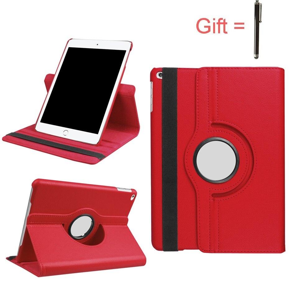 Для iPad Apple Air 2 Air1 чехол A1566 A1567 9,7 дюйма Вращающийся на 360 градусов из искусственной кожи для 5 6 Smart Tablet