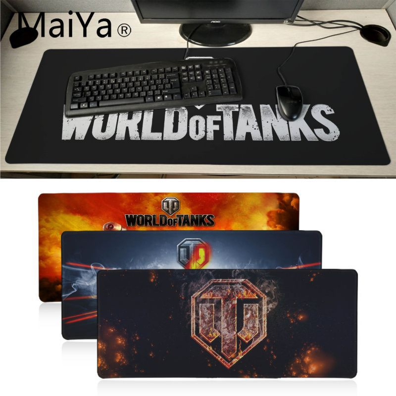 Maiyaca World of Tanks logo Durable escritorio alfombrilla de ratón teclado DE MESA JUEGOS alfombrilla de ratón 60X30CM ordenador de oficina grande tapete de escritorio