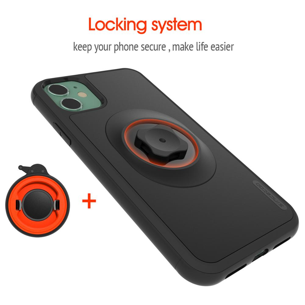 Bike Shockproof Case With Quick Mount Adapter Protect Case For iPhone 11 Pro XsMax Xr 8 Plus 7 6s Belt Clip Bicycle Phone Holder enlarge