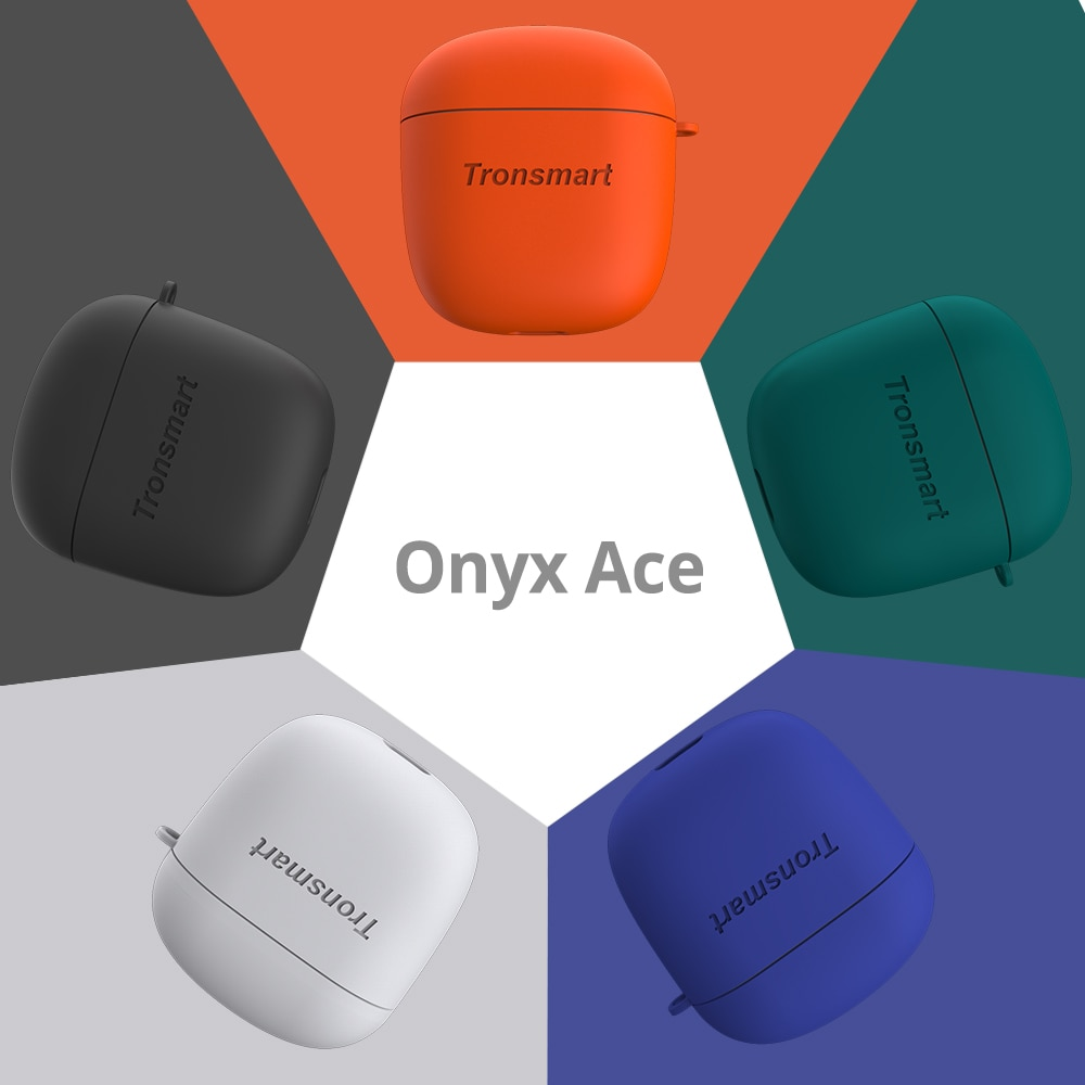 Tronsmart-Auriculares inalámbricos TWS Onyx Ace, por Bluetooth 5.0, con funda de silicona