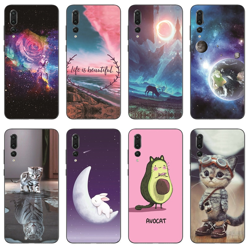 Case for Huawei P20 Pro Cases Silicon TPU Soft Back Cover Phone Case Coque Bumper