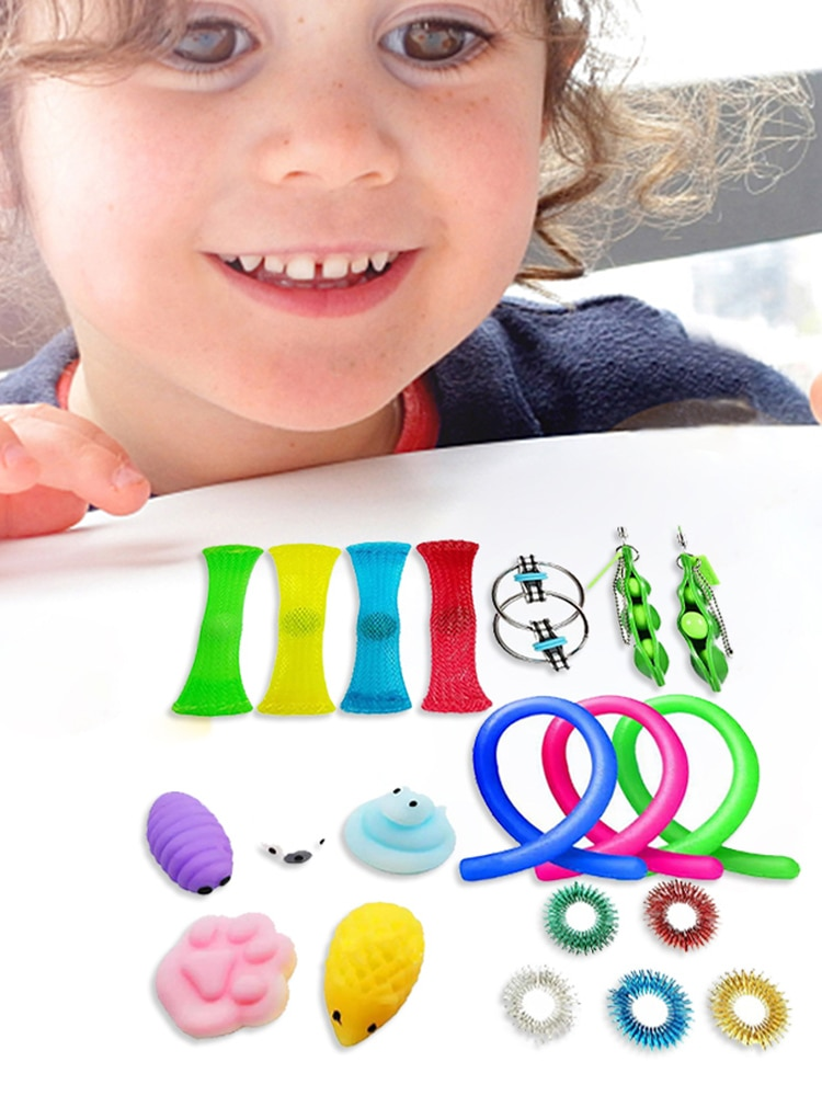 20pcs Sensory Fidget Toys Set Stress Relief Hand Toys for Adults Kids ADHD ADD Anxiety Autism Bundle Sensory Toys Birthday gifts enlarge