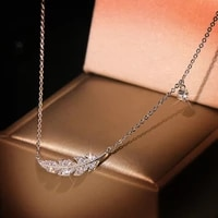 rinhoo elegant feather pendant necklaces silver color accessories fashion jewelry for women birthday party gift