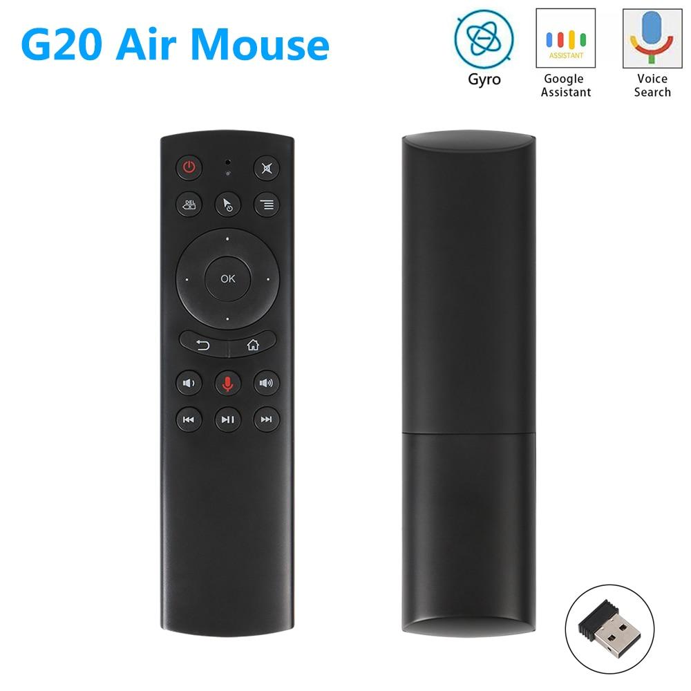G20 G20S Gyro Control remoto por voz de aprendizaje IR de 2,4G inalámbrico Fly Air ratón para X96 Mini H96 MAX AM6 Plus Android caja de TV del G50s