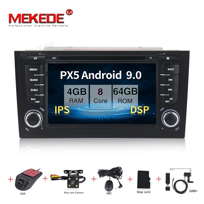 MEKEDE IPS coche reproductor Multimedia Radio del coche 2 Din Android 9,0 sistema estéreo para Audi/A6/S6/RS6 GPS RAM 2GB DSP USB DVR OBD2 FM
