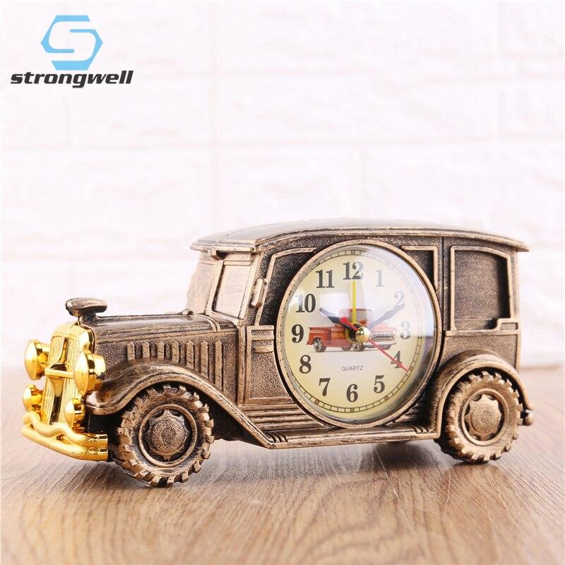 Strongwell accesorios de decoración del hogar reloj despertador forma creativo Retro regalo coche modelo de alta gama muebles Boutique muebles