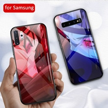 Itachi Uchiha Naruto  Glass Case for Samsung  S8 S9 Plus S10 plus S10e Note 8 9 10 Plus DIY Tempered galss Phone Case