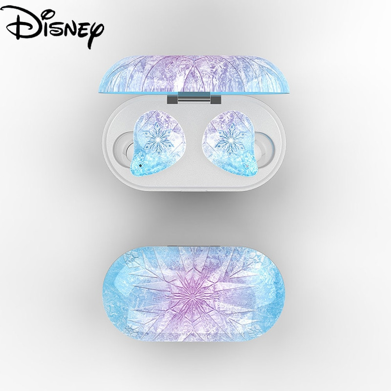 Disney Frozen Wireless Bluetooth Earphones Can Be Single Ear or Binaural Mini Earbuds for Apple Android Portable Earphones enlarge
