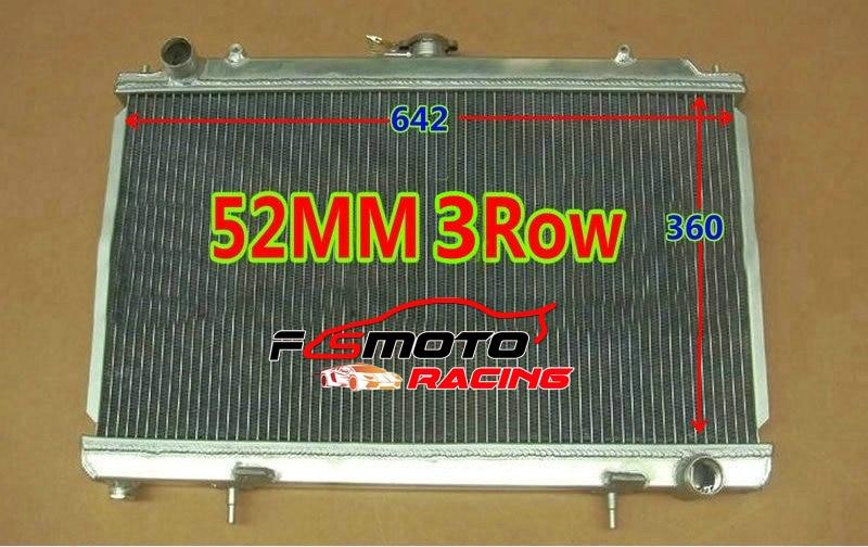3ROW 52MM Racing Radiador de Alumínio Para Nissan Silvia S14 S15 SR20DET SR20 240SX 200SX 1994-2002 Manual do KIT