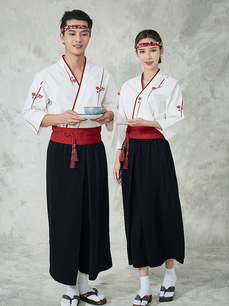 Japan Style chef uniform Japanese Chef service Kimono working wear Restaurant work clothes Tooling uniform Japan Chef Jackets