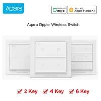 Xiaomi Aqara     interrupteur mural sans fil Opple Zigbee  intelligent  sans fil  aucun cablage requis  pour MiHome Apple HomeKit