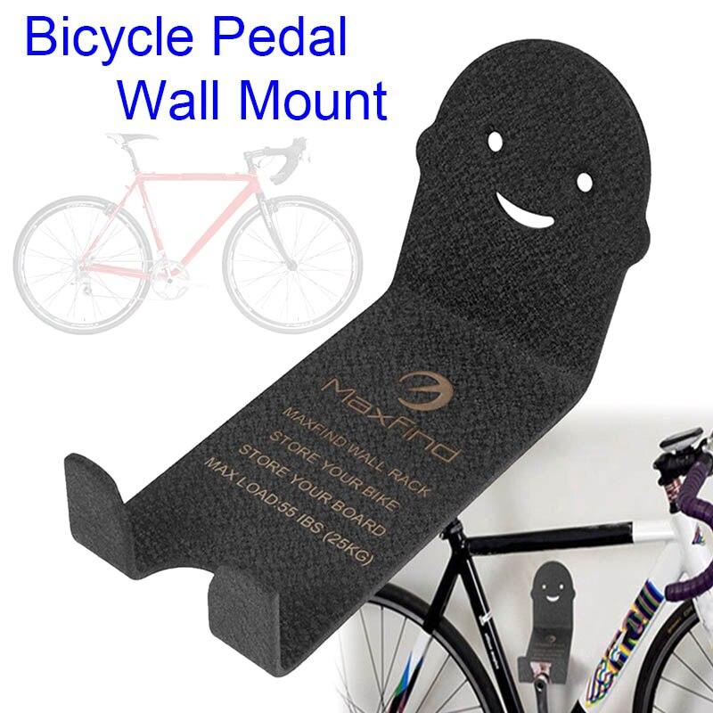 Bicicleta suporte de armazenamento de montagem na parede suporte de metal bicicleta ciclismo pedal cabide suporte eig88