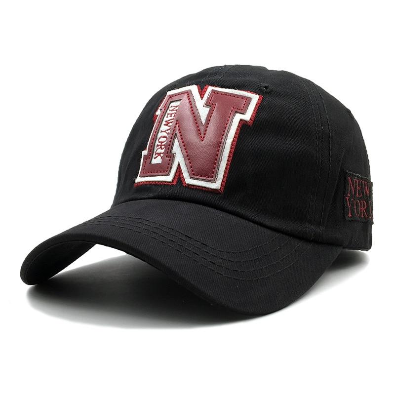 Novo 100% algodão n boné de beisebol chapéu para homens vintage pai chapéu nova iorque bordado carta esportes ao ar livre snapback bonés