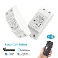 SONOFF     Mini commutateur Wifi intelligent BasicR2  synchronisation de letat pour application eWelink  synchronisation de controle a distance  fonctionne avec Alexa Google Home Voice