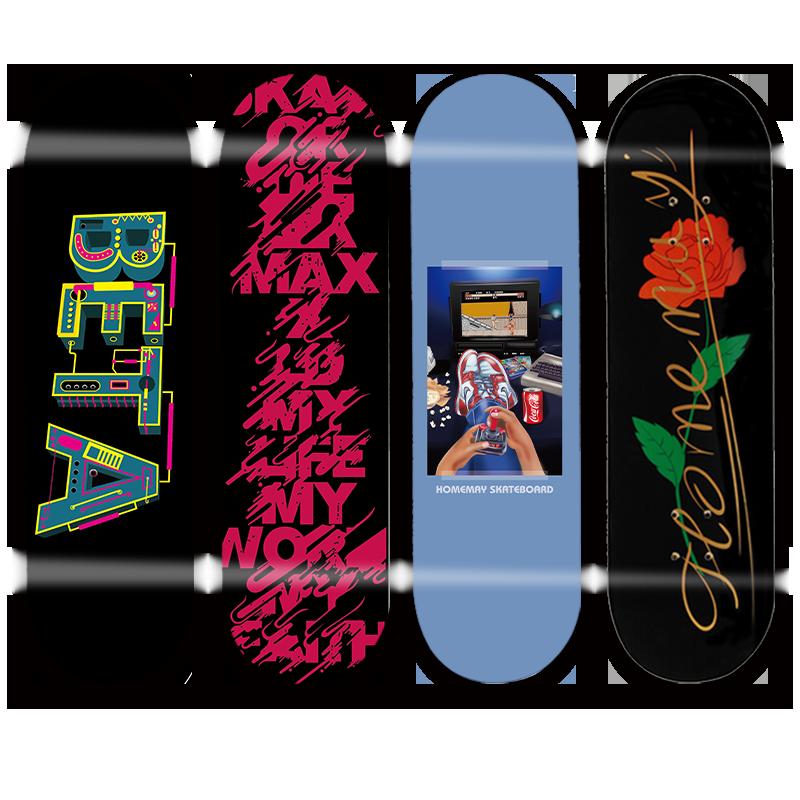 Anime Design Skateboard Hardware Aesthetic Double Rocker Skateboard Professional for Adults Tabla Skate Sports Equipment DK50SB