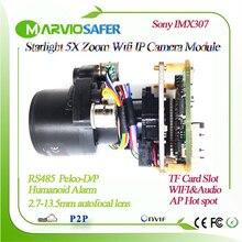 H.265 Starlight-Module de caméra PTZ WIFI   FULL HD, moteur auto-focale, objectif Zoom 2.7-13.5mm, fente de carte TF, détection naturelle RS485