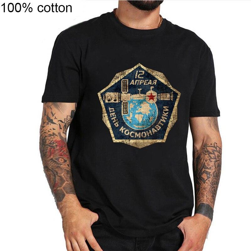 Camisas masculinas cccp rússia união soviética era urss estação espacial homme verão novo casual interkosmos camisas masculinas t espaço shuttletee