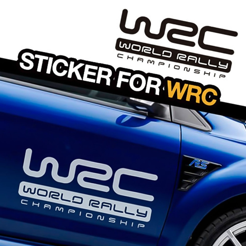 Творческая личность автомобильные наклейки WRC Чемпионат мира по ралли декоративные автомобильные наклейки для двери автомобиля Авто линия...