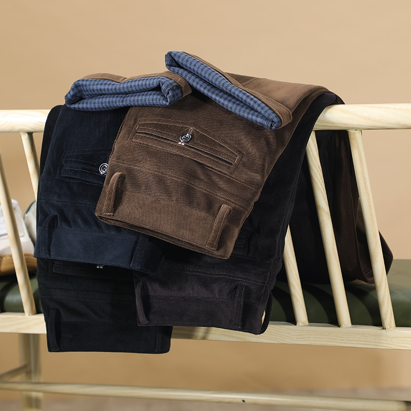 2020 الخريف والشتاء جديد الرجال سروال قصير سراويل تقليدية الأعمال أزياء عالية الجودة مستقيم تمتد السراويل الذكور العلامة التجارية