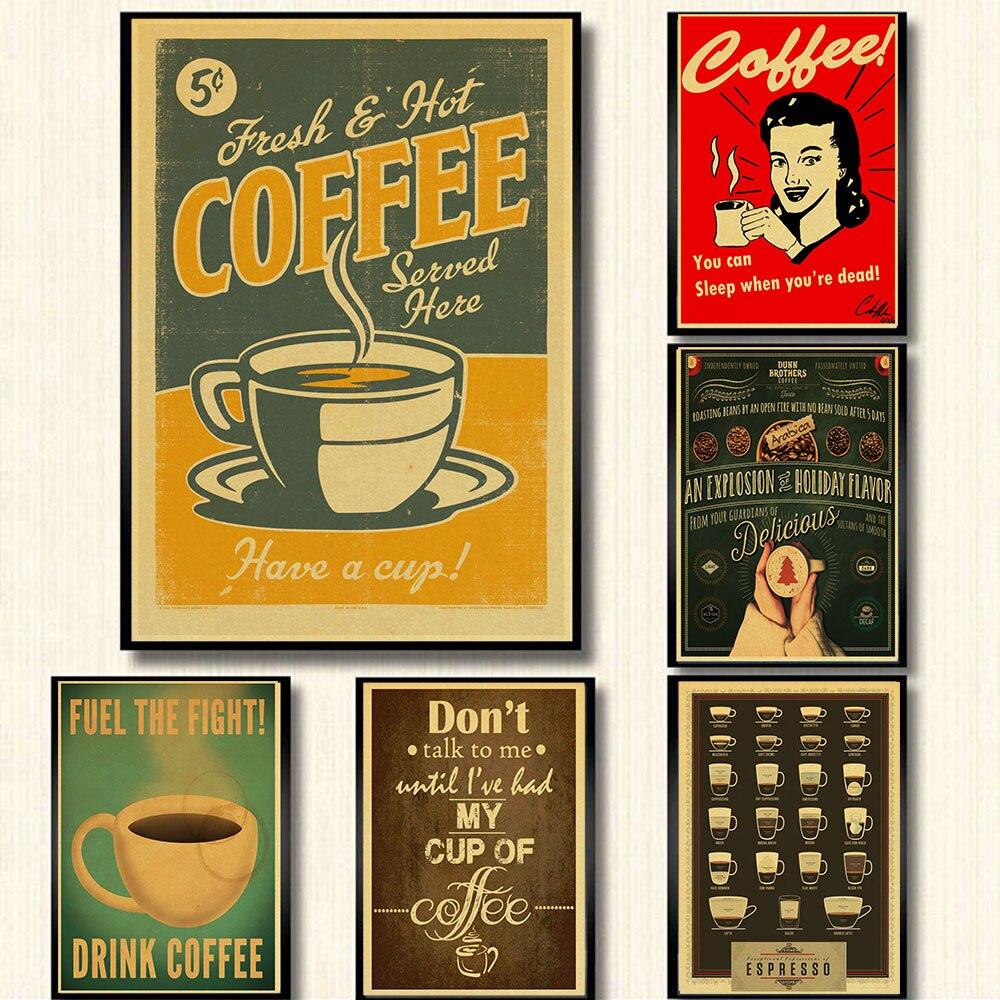 Italia café Espresso a juego diagrama de papel Poster imagen café cocina Decoración