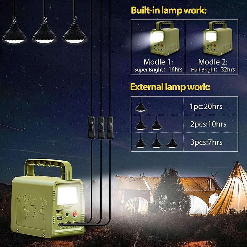 18W Solar Panel Power Storage Generator Home System Kit 5V USB Charger Portable Solar Generator System Outdoor Garden Lighting enlarge