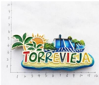 Aimants de réfrigérateur 3D Souvenir de tourisme d'espagne Benidorm Torrevieja, décoration de réfrigérateur, décoration de maison