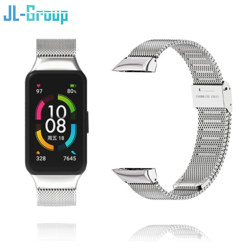 Huawei Band 6 Strap Smart Honor Band 6 Bracelet Wristband Watchband Belt For Replacement Metal Wrist Watch Accessories new replacement sport silicone for huawei band 6 watch band wrist strap adjustable watchband for huawei honor band 6 smart watch