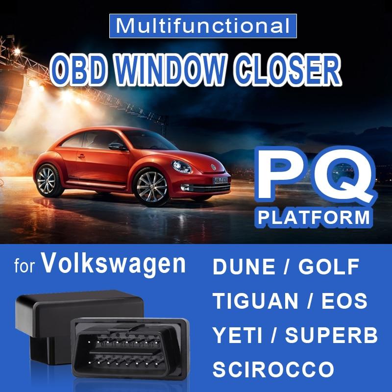 Auto OBD Window Closer for Volkswagen DUNE GOLF TIGUAN EOS YETI SUPERB SCIROCCO Vehicle Glass Door Sunroof Opening Closing Modul