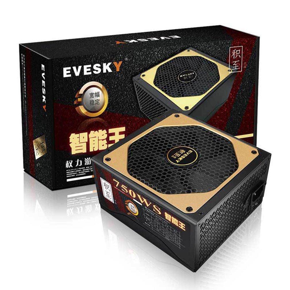 لعبة الطاقة 750ws الكمبيوتر امدادات الطاقة ATX وحدة معالجة خارجية للحاسوب الشاسيه نشط PFC امدادات الطاقة لاستقرار واسع مع ثقب تبريد الشبكة