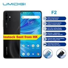 "UMIDIGI F2 Android 10 Helio P70 6GB 128GB téléphone portable 5150mAh 18W Charge rapide 6.53 ""48MP 32MP caméra double 4G LTE NFC Smartphone"