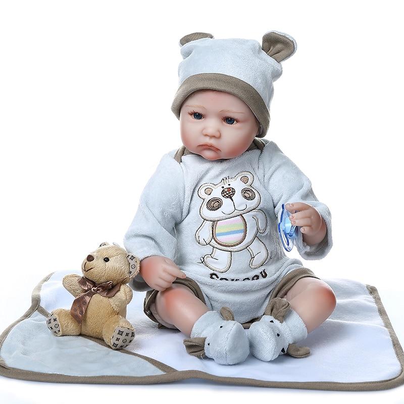 NPK DOLL 40CM reborn baby premie doll lifelike little twins boy girl bebe reborn silicone doll rooted hair high quality doll gif