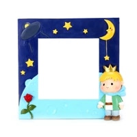 creative 3d resin switch stickers children bedroom light on off cute prince wall stickers wall papers home decoration