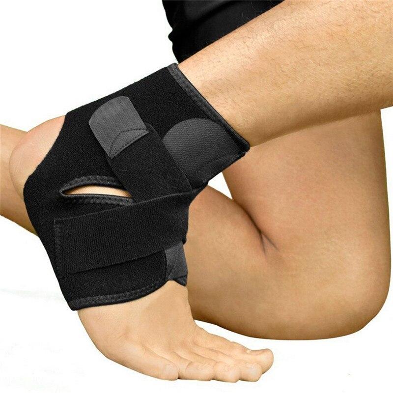 Tobillera de seguridad, protección para correr en el gimnasio, vendaje de pie negro, soporte elástico para el tobillo, protección de banda, Tobilleras Deportivas 1 pieza